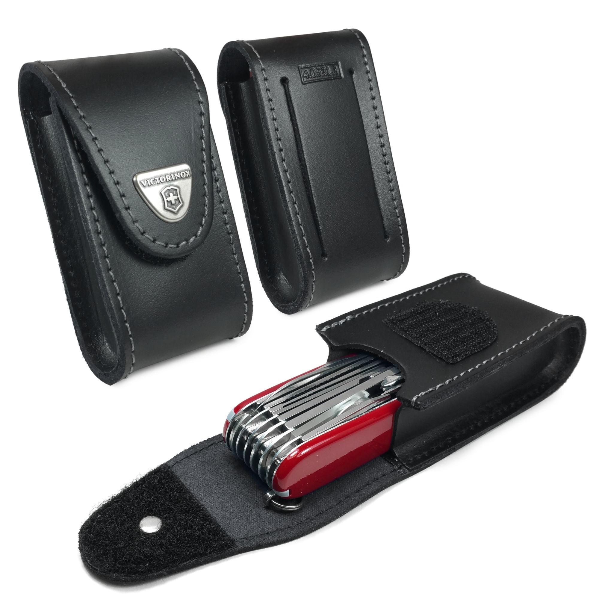 Чехол для широких складных ножей Victorinox 85 и 91 мм. (4.0521.3) натуральная кожа - Wenger-Victorinox.Ru