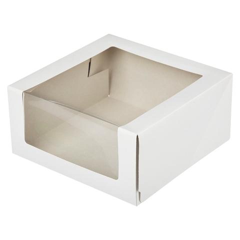 Коробка для торта,23,5х23,5х11,5см белая