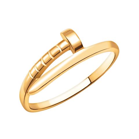 10770 -Кольцо Гвоздь из красного золота