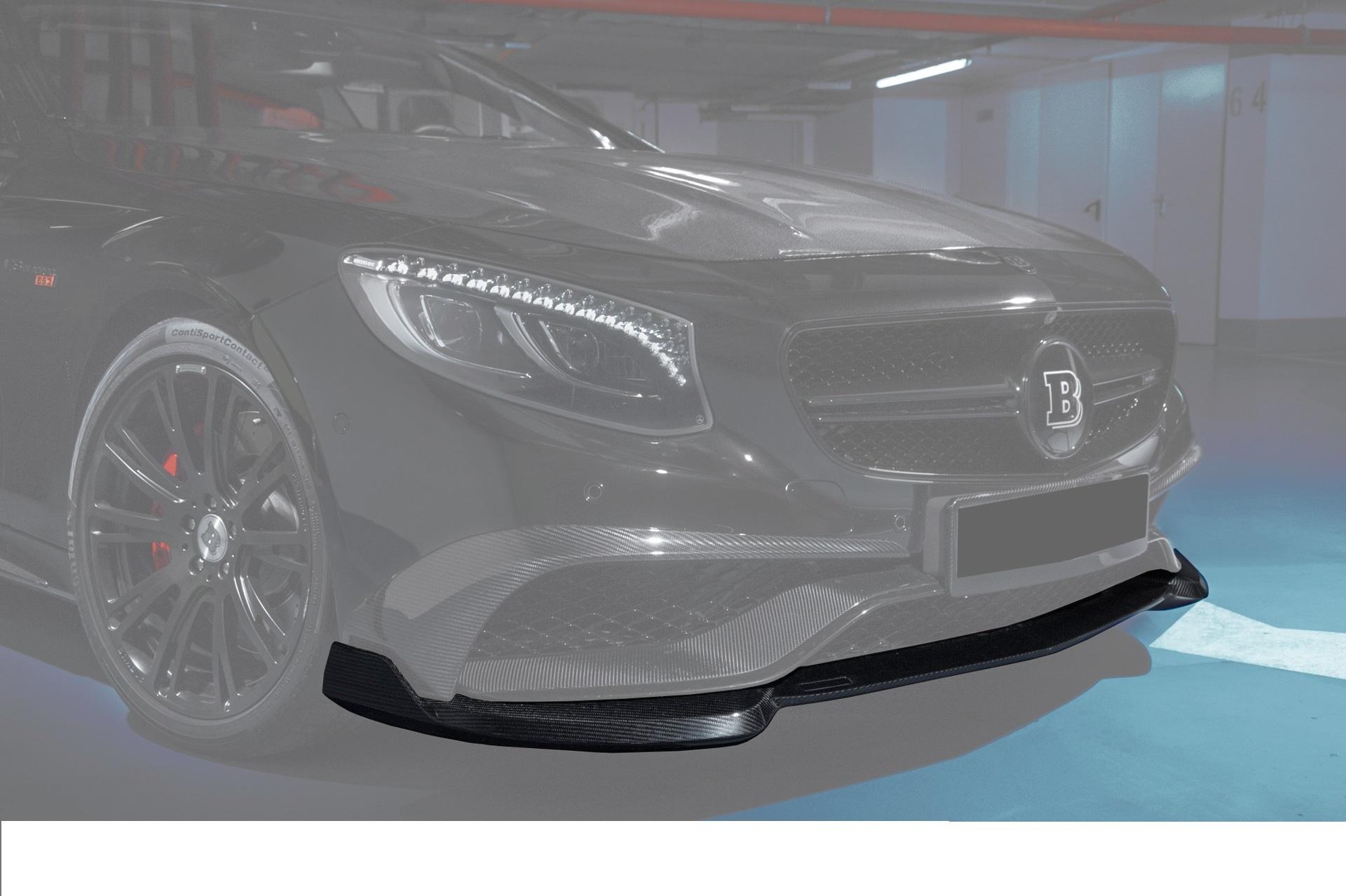 Карбоновый спойлер переднего бампера S63 amg coupe C217