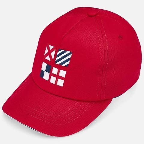 Бейсболка Mayoral красная с вышивкой