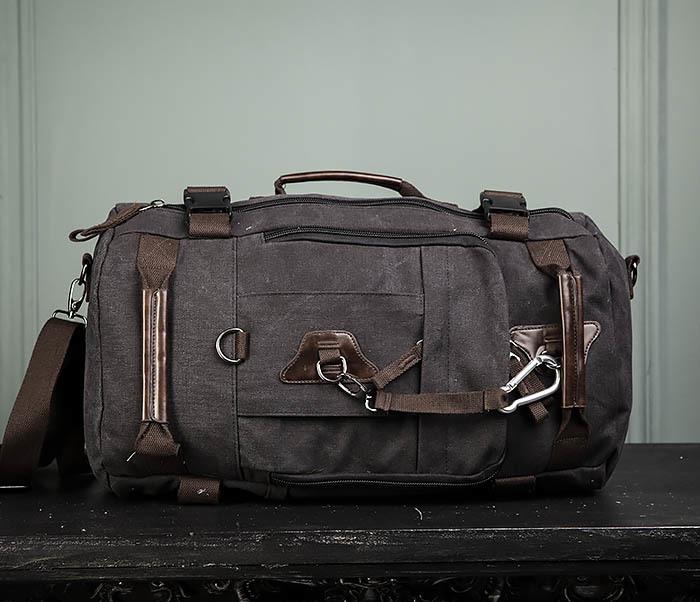 BAG479-1 Большой рюкзак трансформер из текстиля фото 02