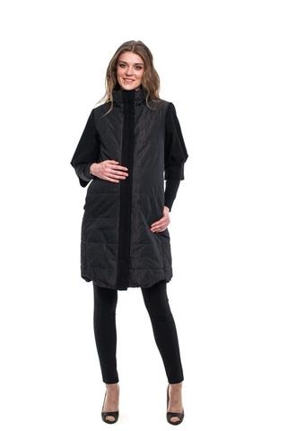 Демисезонное пальто для беременных цвет горький шоколад