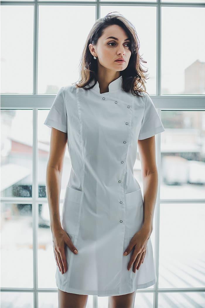 Халат женский медицинский М 161-к