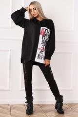 Блузка Alekssandra 3254 Растер рубашка надписи