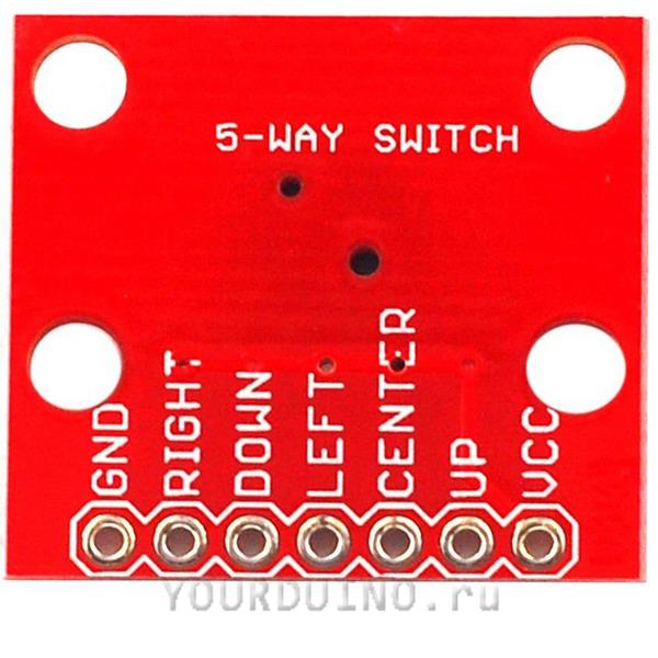 5-позиционный модуль с кнопкой