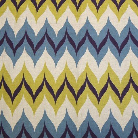 Портьерная хлопковая ткань в современном стиле Фаер синий