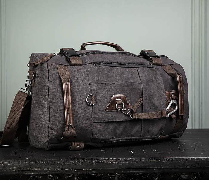 BAG479-1 Большой рюкзак трансформер из текстиля фото 03