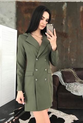 Лиона. Великолепное платье-пиджак. Хакки