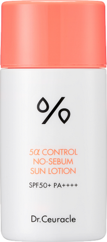 Dr.Ceuracle 5 Alfa Control No-Sebum Sun Lotion Солнцезащитный лосьон для проблемной кожи 50 мл