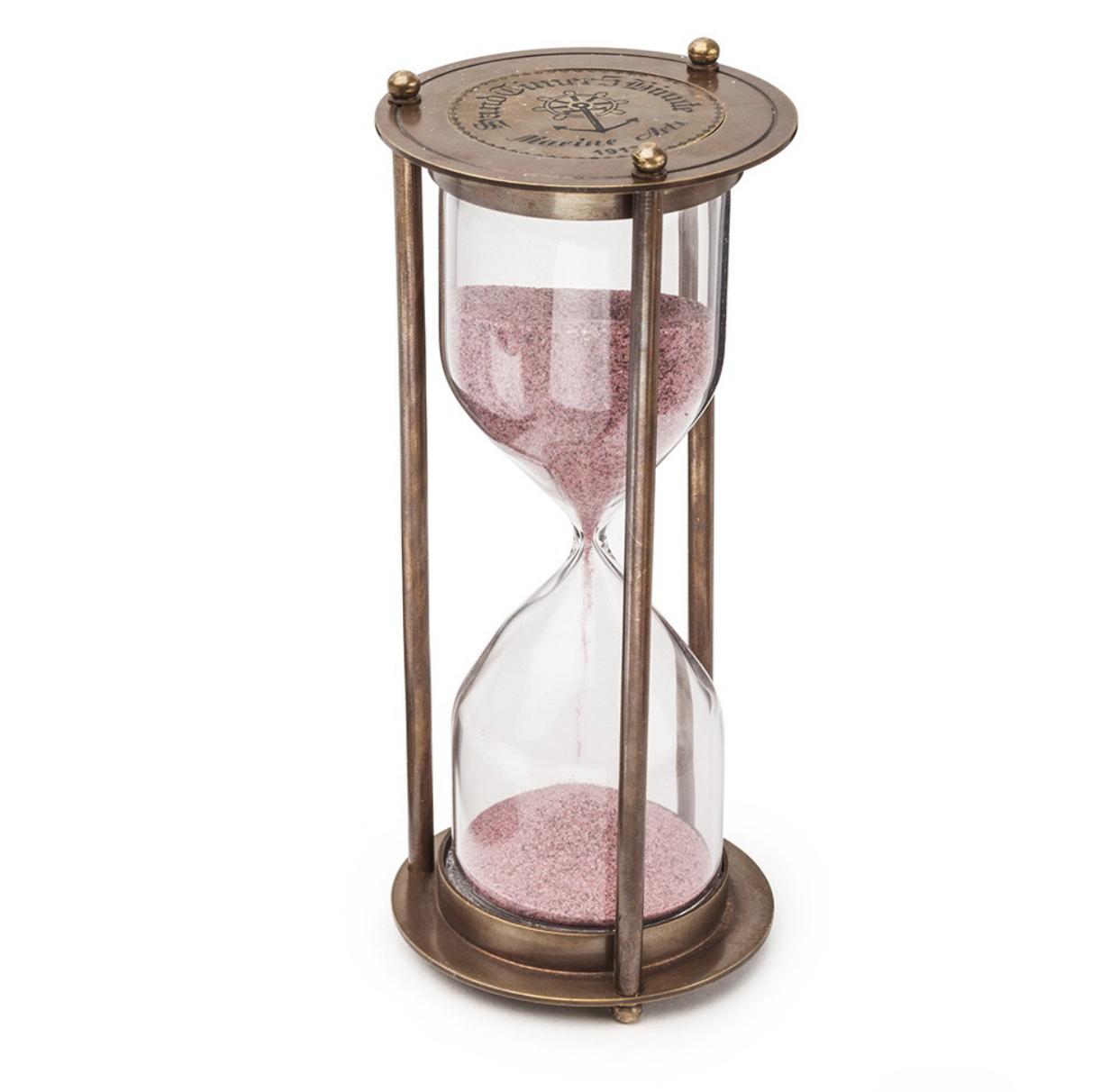 Песочные часы из патинированной  латуни