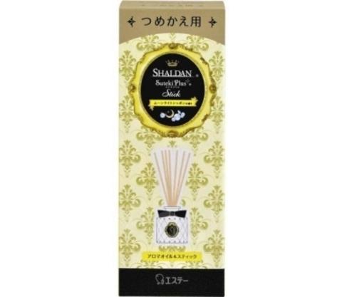 Маслянный наполнитель для ароматизатора ST Shaldan Suteki Plus с ротанговыми палочками Лунное мыло 4