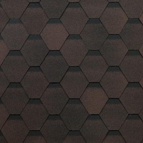 Технониколь гибкая черепица Оптима коричневая