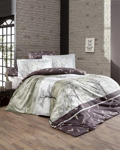 Комплект постельного белья DO&CO Сатин DELUX Семейный DOGA цвет коричневый