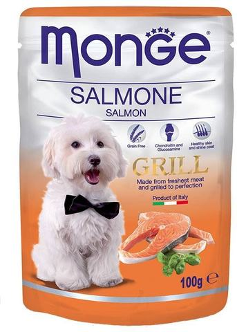 Monge Dog All Breeds Grill Pouch Salmon