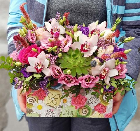 Ящик с цветами Январь 4