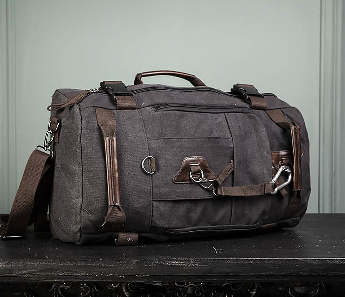BAG479-1 Большой рюкзак трансформер из текстиля фото 04