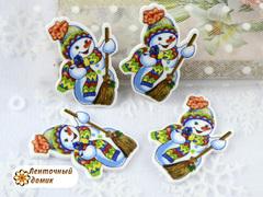 Планер Снеговичок с метлой (матовый)