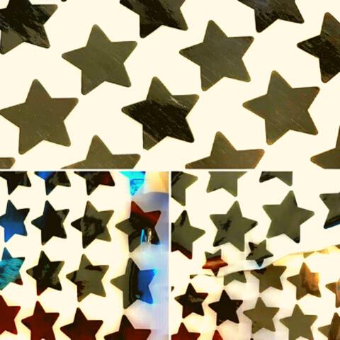 Наклейки «Я звезда» золото