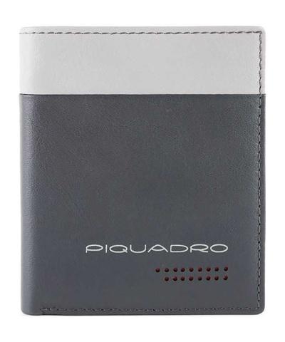 Чехол для кредитных карт Piquadro Urban, черный, 8 отделений, 8,5x10x1,5 см