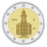 Германия 2015 год 2 евро Гессен двор J   UNC из ролла, Федеральные земли Германии