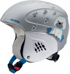 Шлем горнолыжный Alpina CARAT ice bear