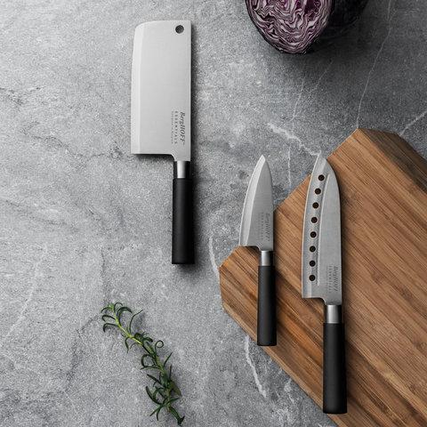 Нож сантоку с отверстиями в лезвии 18см Essentials