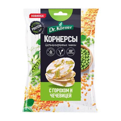 Dr, Korner Чипсы ц/з рисовые с горошком и чечевицей 50гр