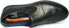 Красивые мужские мокасины Luciano Bellini 107607 Black.