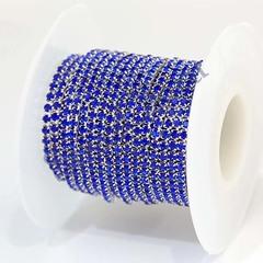 Стразовая цепь купить оптом Sapphire синняя