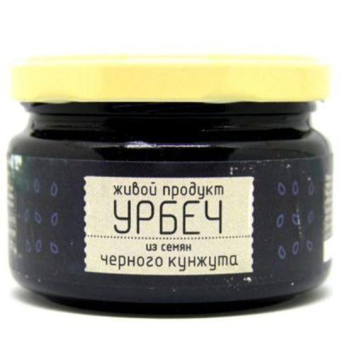 Живой продукт Урбеч из семян черного кунжута, 225 гр