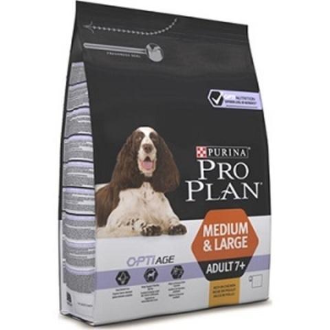 Pro Plan Optiage сухой корм для собак средних и крупных пород старше 7 лет с курицей