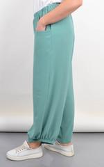 Фантазия. Летние женские брюки большой размер. Мята.