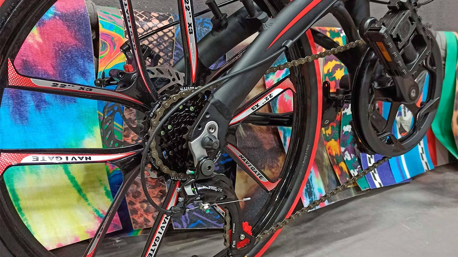 заднее колесо литьё складной велосипед 20