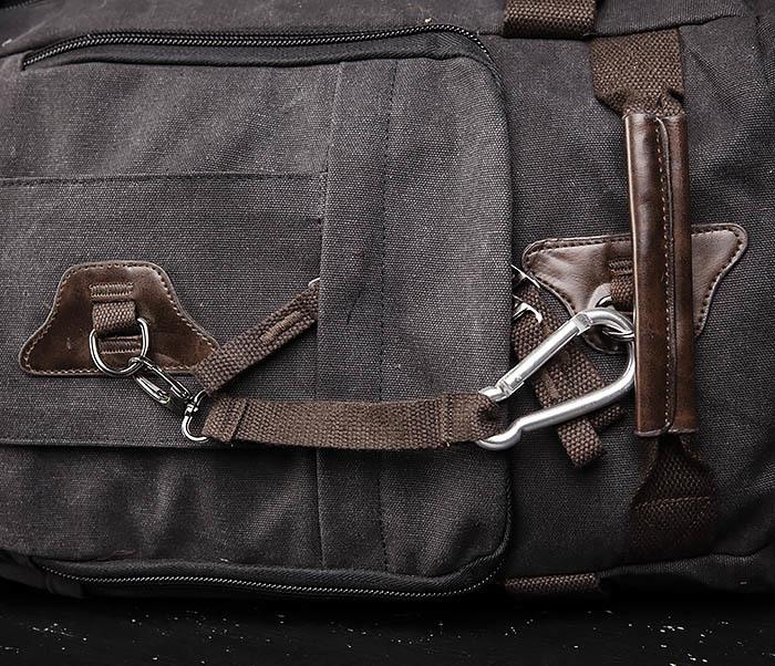 BAG479-1 Большой рюкзак трансформер из текстиля фото 06