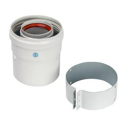 Адаптер для котла вертикальный для коаксиального дымохода STOUT D60/100 мм (для Vaillant, Protherm)