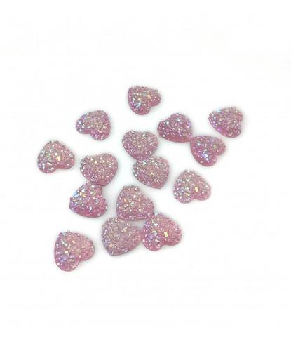 203 стразы сердечки розовые 15 шт