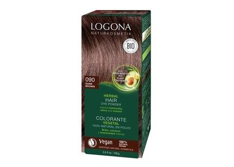LOGONA Растительная краска для волос 090 «Темно-коричневый»
