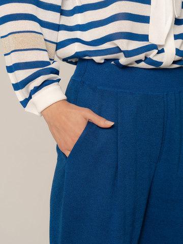 Женские брюки синего цвета из вискозы - фото 5