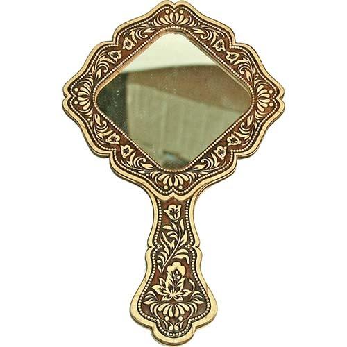 Зеркальце квадратное на ручке