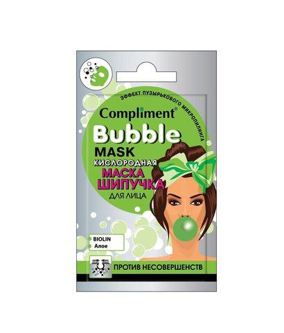 Compliment Cаше BUBBLE MASK кислородная маска-шипучка для лица против несовершенств