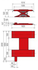 Подъёмник ножничный для легкового автосервиса BUTLER Solidus 25А