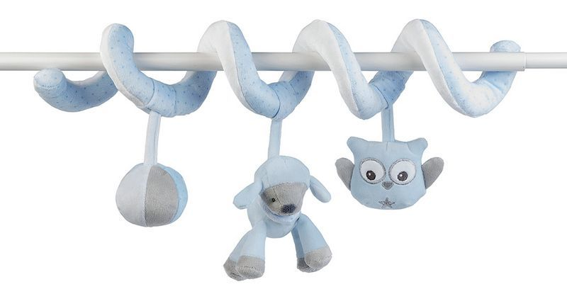 Мягкая игрушка Nattou Toy Spiral Sam&Toby Овечка и Собачка
