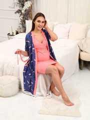 Мамаландия. Комплект для беременных и кормящих, фламинго/синий