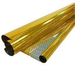 Рулон пленка Голография Золото, 70 см*7,5 м, 40 мкр