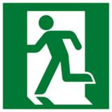 Е 01-01 Эвакуационный знак - Выход здесь левосторонний