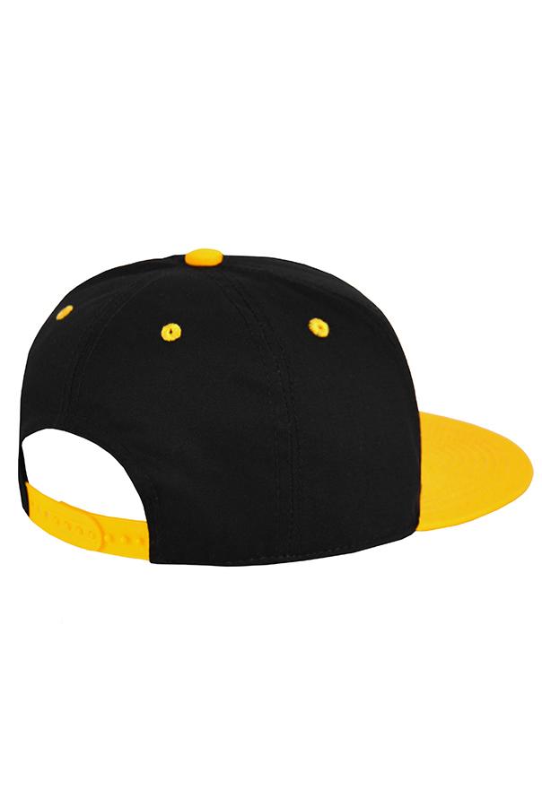 Бейсболка черная с желтым фото 2