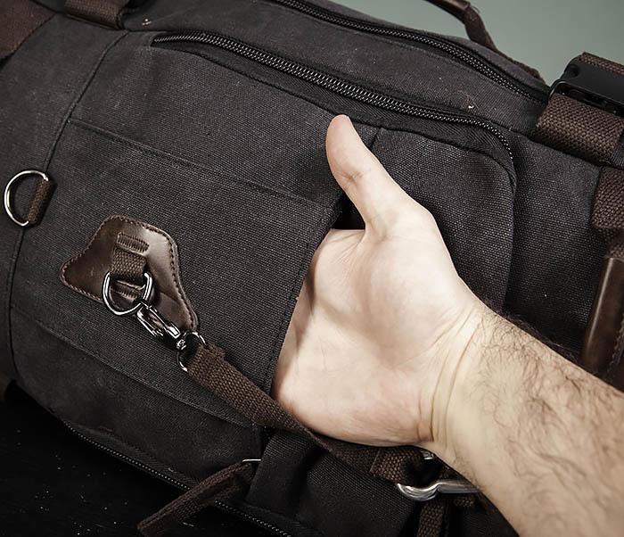 BAG479-1 Большой рюкзак трансформер из текстиля фото 08