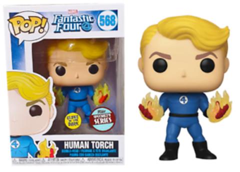 Human Torch (568) (Fantastic Four) Funko Pop! || Человек-Факел (светится в темноте)