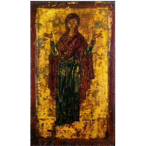 Икона Божией Матери Нерушимая Стена (Оранта) на дереве на левкасе мастерская Иконный Дом